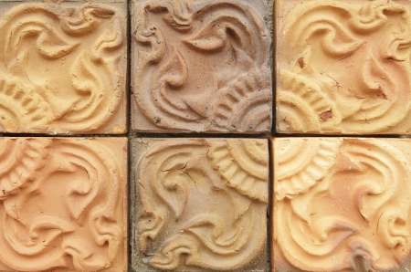 glaze: Traditional ancient on the wall tiles