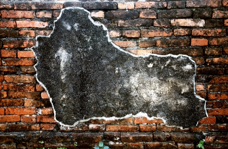 Wall in the old palace, Lopburi, Thailand photo
