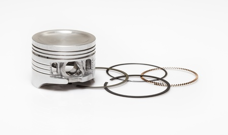 compression  ring: piston and set of ring used as repairing kit in automotive engines overhaul