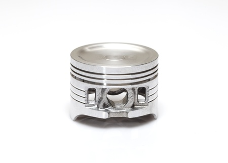 compression  ring: piston used as repairing kit in automotive engines overhaul    Stock Photo