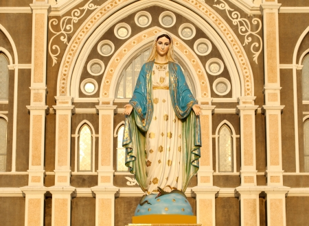 god figure: The Roman Catholic Church, Chanthaburi Province, Thailand. (The Cathedral of the Immaculate Conception) Stock Photo