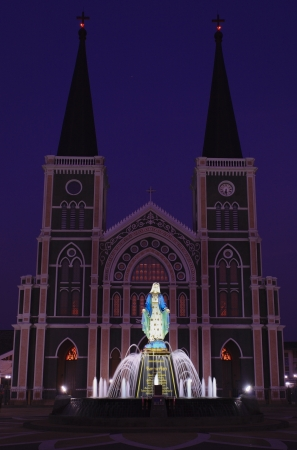 The Roman Catholic Church, Chanthaburi Province, Thailand. Stock Photo
