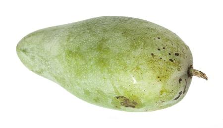 Sweet green mango isolated on white background