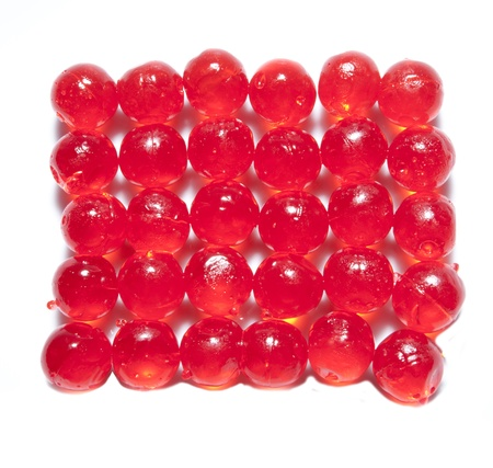 jelly red bolus isolated background white