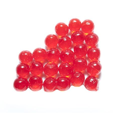 bolus: jelly red bolus isolated background white