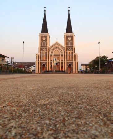 immaculate: Provincia de Chanthaburi, Tailandia La Catedral de la Inmaculada Concepci�n Foto de archivo