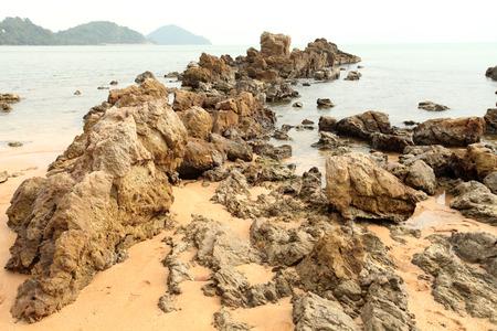 Rocks seaside summer Chantaburi in Thailand Stock Photo