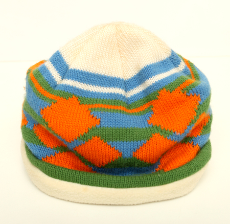 hat yarn color bright isolated background white