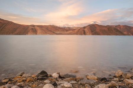 kashmir: Pangong lake in kashmir