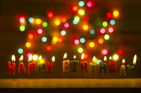 kerze: Herzlichen Glückwunsch zum Geburtstag  Lizenzfreie Bilder