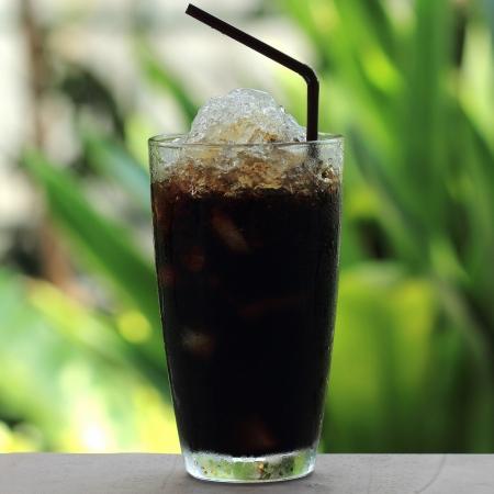 Thai style black coffee
