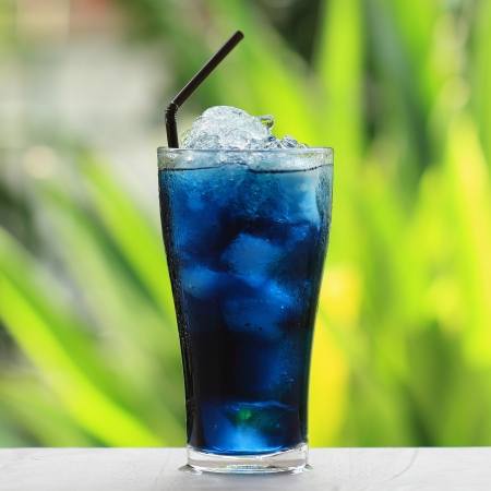 Asian pigeonwings and blue juice  photo