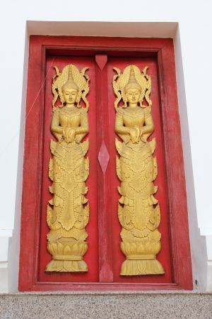 place of worship: The door temple from old Wat in Ayuthaya Province,Thailand