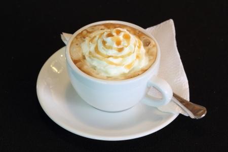 Coffee with caramel