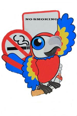 guacamaya caricatura: Campa�a Fumar historieta Macaw