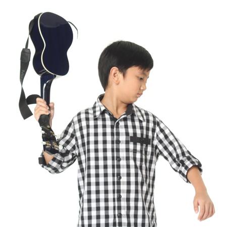 fop: Portrait of a boy with guitar