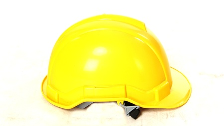 Yellow plastic helmet or safety hat