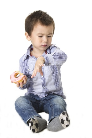 dough nut: Dough nut Boy   a boy eating a dough nut