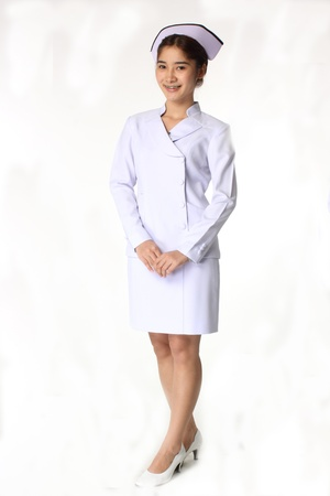 Nurse on a white isolated background  photo