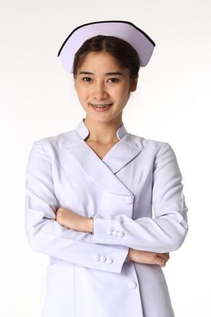 Nurse on a white isolated background  Stock Photo