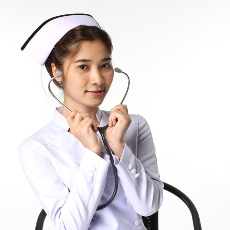 Nurse and stethoscope  photo