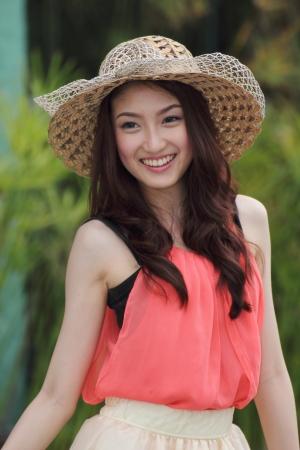 Close up Portrait beautiful Asian Girl  photo