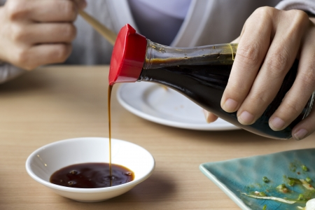 Rinse Soy Sauce  Stock Photo