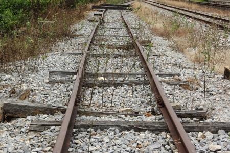 end line: Vieja l�nea de fondo trian tren
