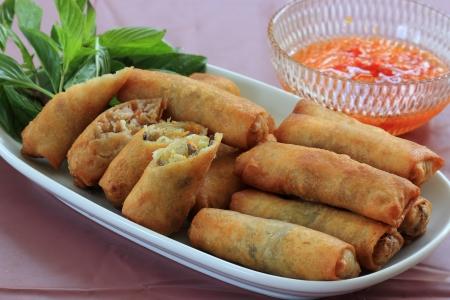 Deep Fried Eggroll Thai-Chinese food   photo