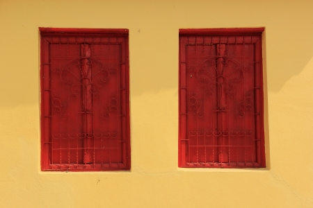 comfortableness: Two windows of a old monk house