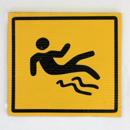 Signe Becareful Banque d'images
