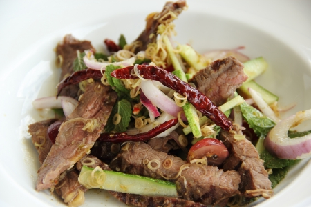 Beef Spicy salad Thai style  photo