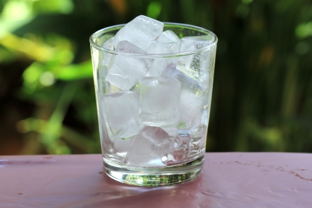 ice cube: A glass of refreshing ice cube
