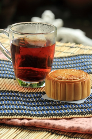 Chinese moon cake -- food for Chinese mid-autumn festival Stok Fotoğraf - 22139324