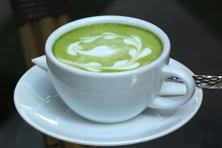 Green tea Latte/Matcha tea art  photo