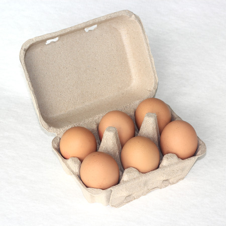 eggs in the package   Carton paper tray  photo