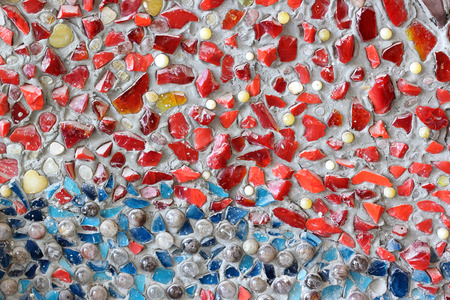 The small colorfull rock texture of ceramic wall  photo