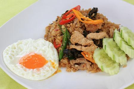 moo: Fried rice with basil, chili and pork  Khao Pad Krapao Moo    Thai Spicy Food