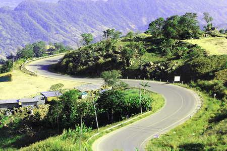 Mountain road in the North of thailand  Stock Photo