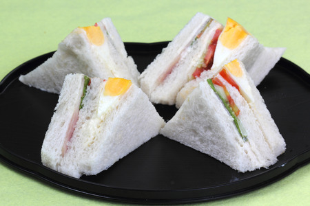 sandwich in the tray ready for served  photo