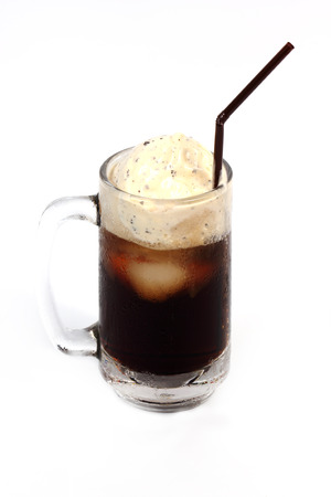 Root Beer Float Isolated on white  photo