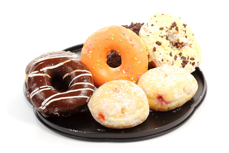 Group of doughnut on the tray photo