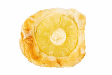 pineapple Danish Pastry isolated on white background photo