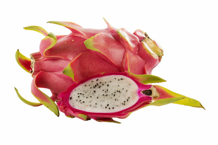 Dragon fruit isolated on white background with paths  photo