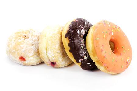 Group of doughnut isolated on white background  photo