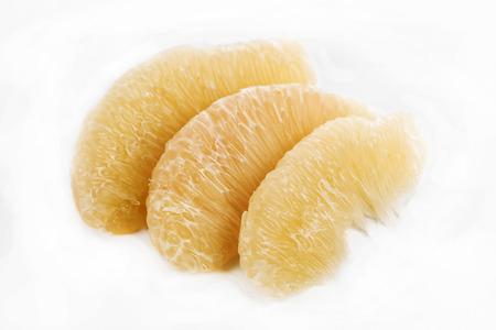 Pomelo fruit isolate on the white background  photo