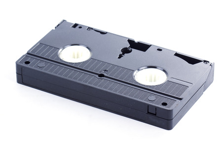 vdo: Video Tape Isolated on the white background Stock Photo