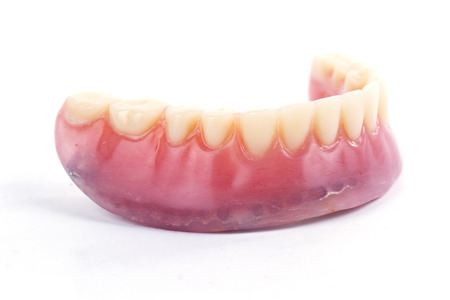 prosthetics: false teeth prosthetic isolated on white background