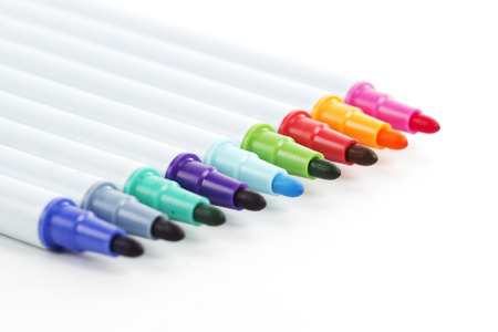 Color pens Isolated on the white background photo