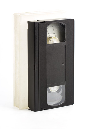 vdo: Video Tape with case Isolated on the white background